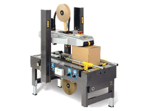 Machine pour pose d'adhésif automatisé carton