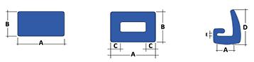 schéma types profilés mousse en C