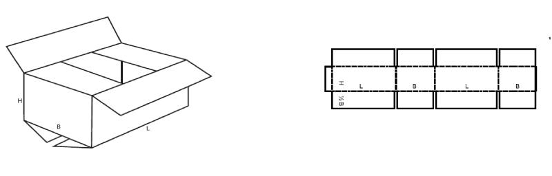 schéma pliage boite carton