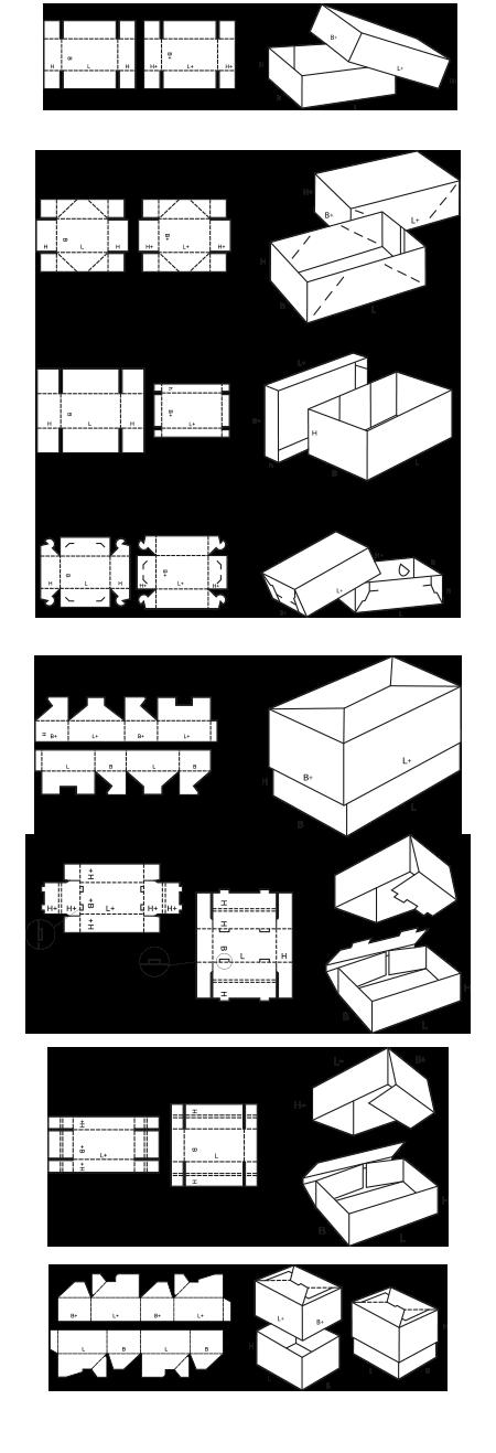 tous les designs de boîtes cloches