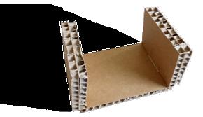 cale carton nid d'abeille en U