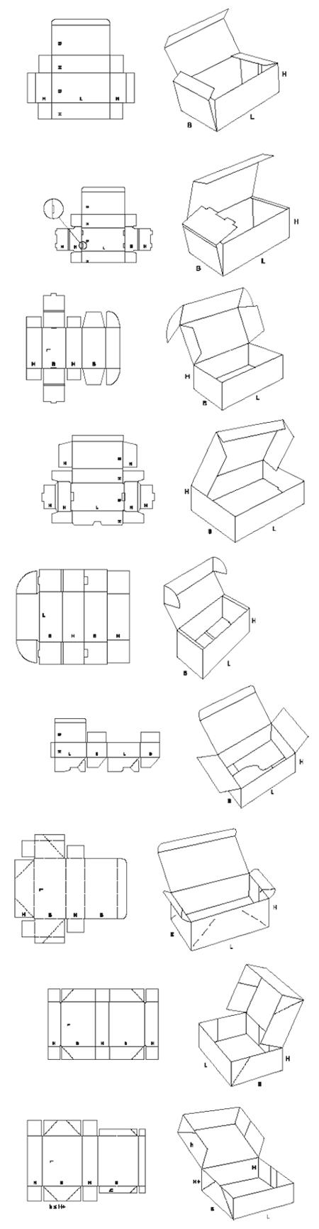 dessins filaires gamme boite à couvercle
