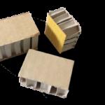 exemple plots en carton nid d'abeille