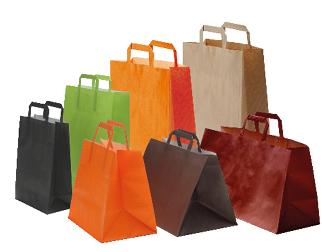 sac papier couleurs