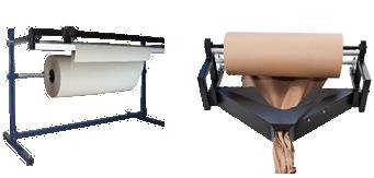 dévideur et machine à froisser le papier
