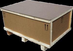 caisse carton et bois plate