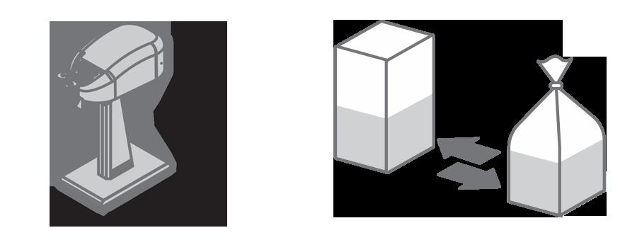 picto dimension clipeuse et sachet carton