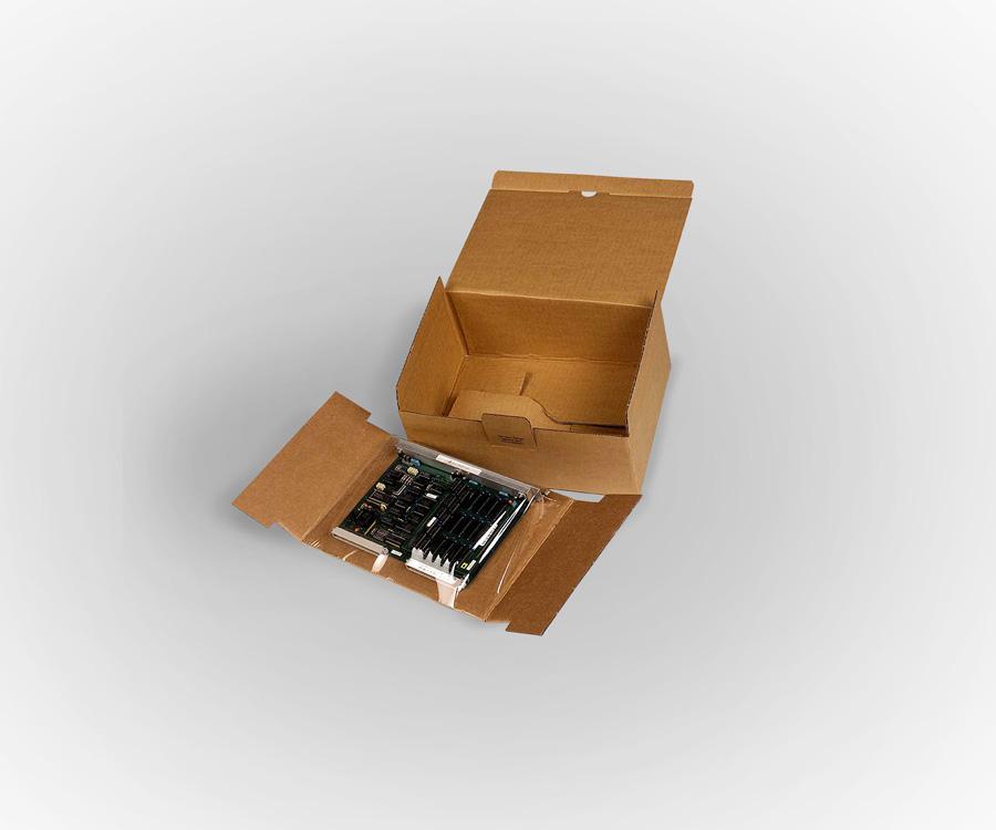 cale à rétention carton pour circuit imprimé