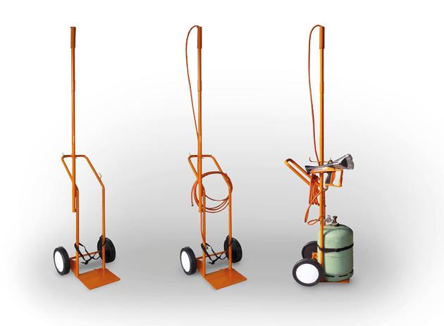 chariot transport bouteille de gaz vide et chargé
