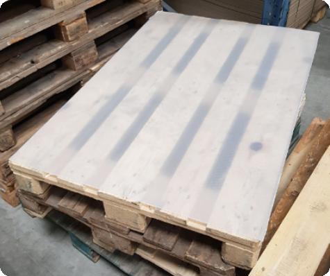 plaques polypropylene transparente pour palettisation