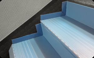 plaques polypropylène pour protection des escaliers
