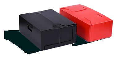 boites en plaques polypropylene pliées