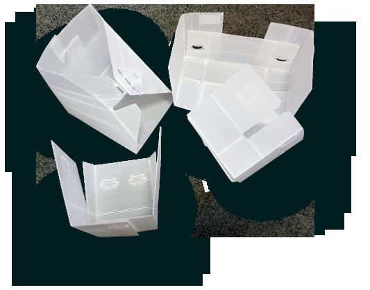 plaques polypropylene transformées
