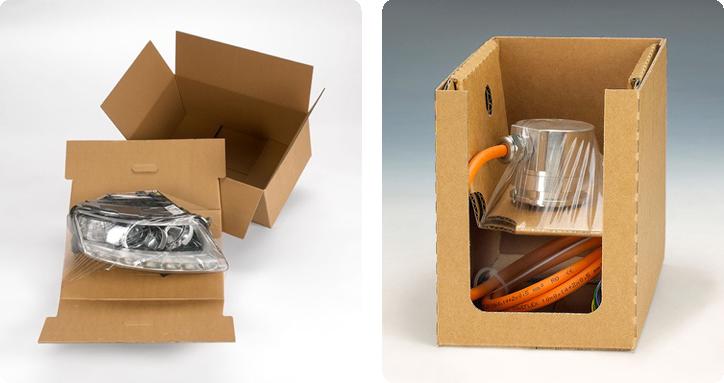 exemples d'utilisation du calage à rétention carton